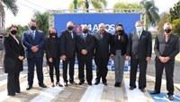 114 anos de Irati - Vereadores participam de Ato Cívico em frente a Santa Casa