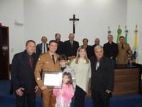 Câmara outorga Título de Cidadão Honorário ao Comandante do Corpo de Bombeiros de Irati