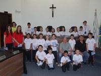 Câmara recebe visita dos alunos da Escola Ana Amaral Gruber
