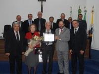 Câmara outorga Título de Cidadania Honorária ao Maestro João Wilson Faustini