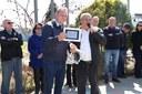 Vereadores participam da solenidade de entrega da reforma da Escola Olavo Anselmo Santini