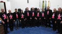 Outubro Rosa - Câmara Municipal apoia a luta contra o câncer de mama