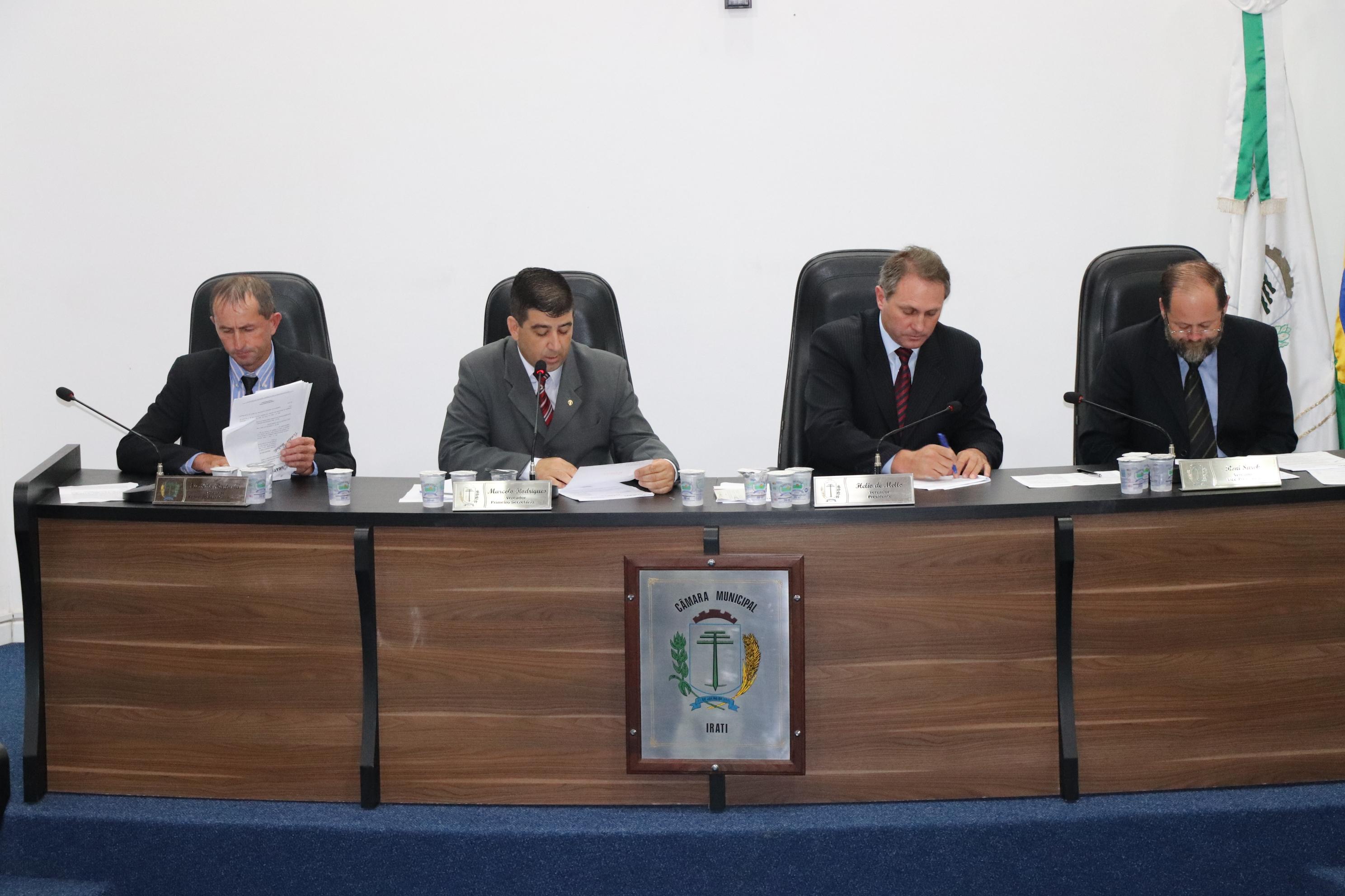 Projetos de Lei do Executivo são aprovados em 1ª Votação