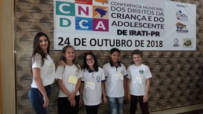 Vereadores Mirins participam de Conferência Municipal dos Direitos da Criança e do Adolescente