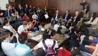 Vereadores Mirins visitam ALEP e Palácio Iguaçu