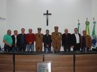 Vereadores participam de solenidade alusiva ao Dia do Patrono da Polícia Miliar do Paraná